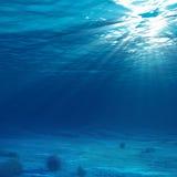 Indicatore luminoso subacqueo Fotografia Stock