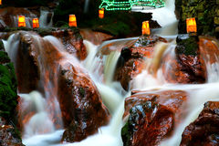 Indicatore luminoso sulla cascata Immagine Stock