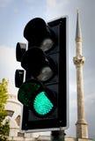 Indicatore luminoso verde Fotografia Stock