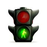 Indicatore luminoso verde Fotografie Stock Libere da Diritti