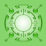 Indicatore luminoso verde Immagini Stock Libere da Diritti