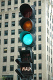 Indicatore luminoso verde - camminata Immagini Stock