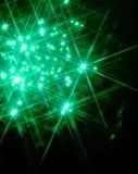 Indicatore luminoso verde della stella Immagini Stock