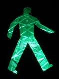 Indicatore luminoso verde di traffico Fotografia Stock Libera da Diritti