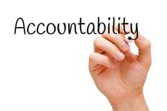 Indicatore nero di responsabilità Immagini Stock