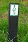 Indicatore per le bici Fotografia Stock