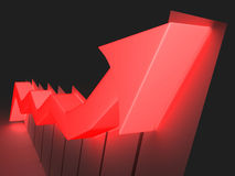 Indicatore rosso in su Immagini Stock Libere da Diritti