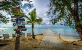 Indicatore tropicale di direzione Fotografie Stock Libere da Diritti