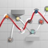 Indicatori astratti di presentazione di dati del modello di infographics Fotografia Stock Libera da Diritti