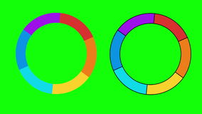 Indicatori della barra di caricamento di progresso UI illustrazione vettoriale