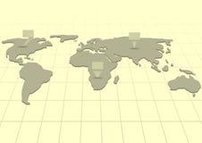 Indicatori della mappa Fotografia Stock Libera da Diritti