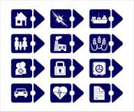 Indicatori di assicurazione di vettore illustrazione di stock