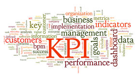 Indicatori di efficacia chiave di KPI Fotografia Stock Libera da Diritti