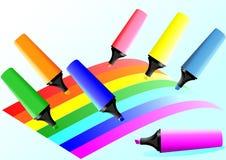 Indicatori e righe colorate Fotografia Stock