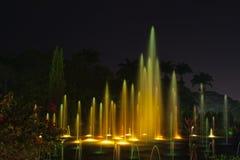 Indicatori luminosi 2 della fontana Fotografia Stock Libera da Diritti