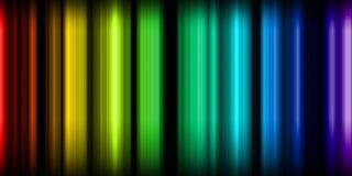 Indicatori luminosi al neon Fotografie Stock