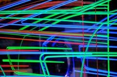 Indicatori luminosi al neon. Fotografia Stock Libera da Diritti