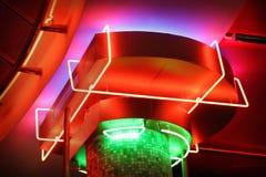 Indicatori luminosi al neon fotografia stock