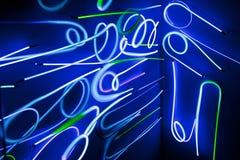 Indicatori luminosi al neon Fotografie Stock Libere da Diritti