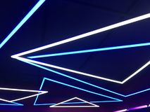 Indicatori luminosi al neon blu fotografia stock