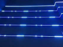 Indicatori luminosi al neon blu illustrazione vettoriale
