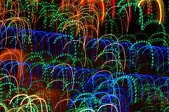 Indicatori luminosi al neon della discoteca di Dancing Fotografie Stock