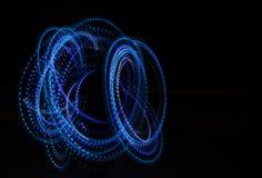 Indicatori luminosi al neon nello scuro Fotografia Stock