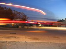 Indicatori luminosi alla notte Fotografia Stock