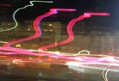 Indicatori luminosi alla notte Fotografie Stock