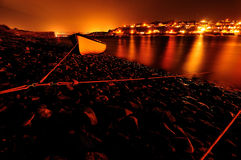 Indicatori luminosi arancioni Fotografia Stock