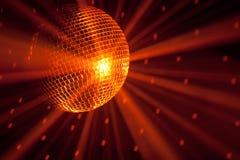 Indicatori luminosi arancioni del partito Immagine Stock
