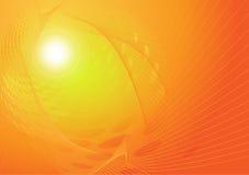 Indicatori luminosi arancioni della priorità bassa astratta di vettore Fotografia Stock Libera da Diritti