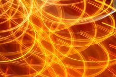Indicatori luminosi arancioni rossi di notte della priorità bassa chiara astratta Fotografie Stock Libere da Diritti