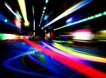 Indicatori luminosi astratti della città Immagine Stock Libera da Diritti