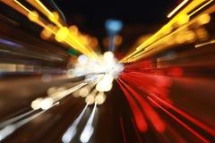 Indicatori luminosi astratti della città Immagini Stock