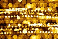 Indicatori luminosi astratti della città di notte Fotografia Stock