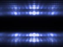 Indicatori luminosi blu Fotografie Stock