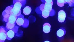 Indicatori luminosi blu astratti video d archivio