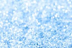 Indicatori luminosi blu di Bokeh fotografia stock