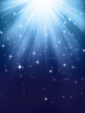 Indicatori luminosi brillanti blu Fotografie Stock