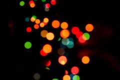 Indicatori luminosi circolari colorati Defocused Immagini Stock Libere da Diritti