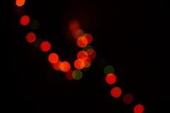 Indicatori luminosi circolari colorati Defocused Fotografie Stock Libere da Diritti