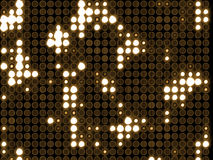 Indicatori luminosi circolari molto luminosi Fotografie Stock