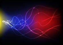 Indicatori luminosi d'ardore astratti Immagine Stock Libera da Diritti