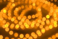 Indicatori luminosi d'ardore Defocused Fotografia Stock