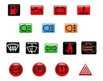 Indicatori luminosi d'avvertimento dell'automobile Immagine Stock