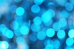 Indicatori luminosi Defocused blu Fotografia Stock