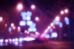 Indicatori luminosi Defocused della città Fotografia Stock Libera da Diritti