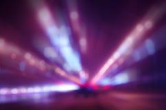 Indicatori luminosi Defocused della città Fotografia Stock
