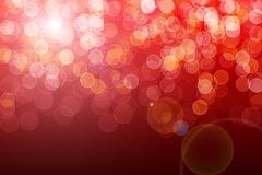 Indicatori luminosi defocused rossi Immagine Stock Libera da Diritti